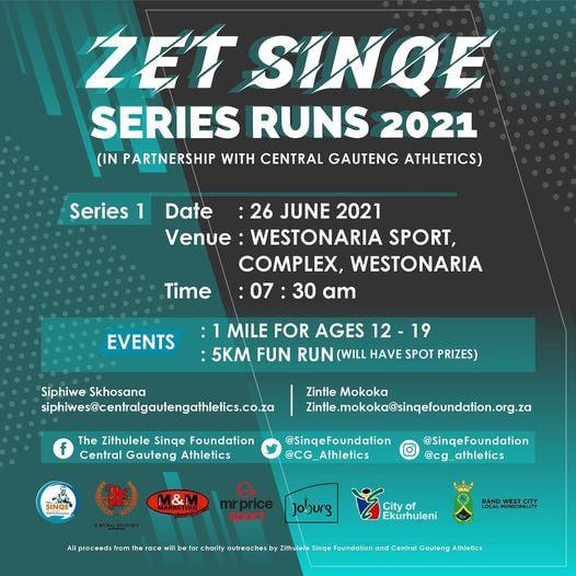Zet Sinqe Series Run 2021 Flyer